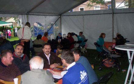 AV team tent