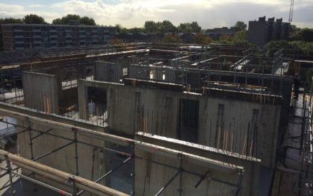 Fundering en kelder van De Rondine en Cadenza in Hogekwartier - Amersfoort Vernieuwt