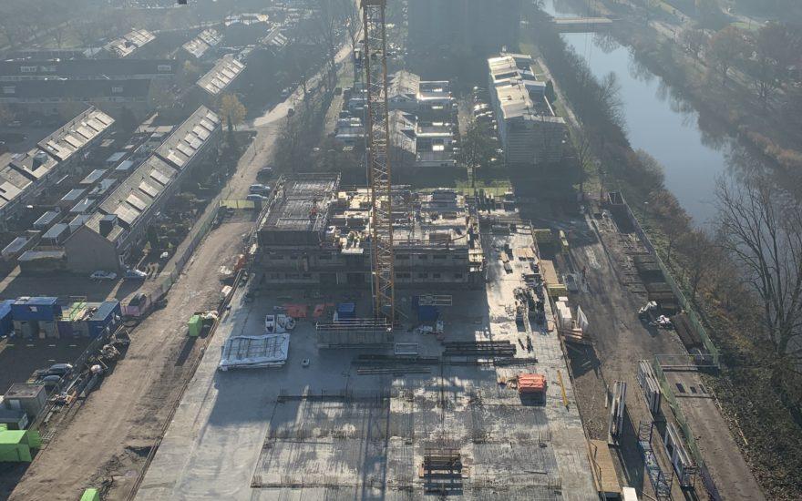 Castalia gezien van de 19e etage vanaf de bouwplaats van Cadenza - Amersfoort Vernieuwt